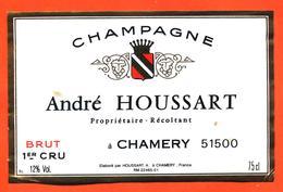 étiquette De Champagne Brut André Houssart à Chamery - 75 Cl - Champagne