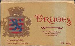 Brugge Bruges - Carnet Complet 24 Cartes Librairie Papeterie De Reyghère - Brugge