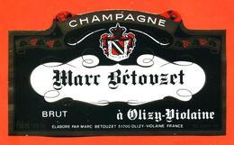 étiquette De Champagne Brut Marc Bétouzet à Olizy Violaine - 75 Cl - Champagne