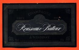 étiquette De Champagne Brut Rousseaux Batteux à Verzenay - 75 Cl - Champagne
