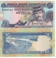 BRUNEI   1 Dollar    P13a  Dated  1991    UNC - Brunei