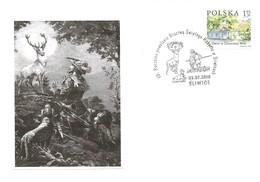 POLONIA - 2010 SLIWICE Omaggio A S. UBERTO (santo, Cervo, Cane) - 1850 - Christianisme