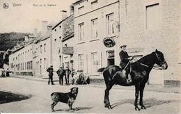 Yvoir Rue De La Station Cheval Café Animation 1912 édit J. Leclercq TOP Carte - Yvoir