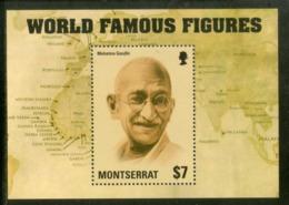 Montserrat 2014 Mahatma Gandhi Of India Sc 1354 M/s MNH # 5154 - Mahatma Gandhi