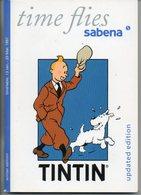 SABENA Uurtabel Horaire Time Tabel 176 Blz Vliegtuig Avion Airplane Flugzeug Hergé Tintin Kuifje - Monde