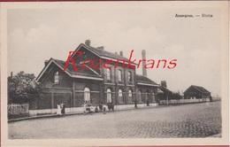 Anzegem Statie Station Railway Station La Gare  (In Zeer Goede Staat) - Anzegem