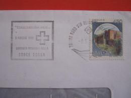 T1 ITALIA ANNULLO TARGHETTA - 1986 TORINO REGATA VITA DONA SANGUE GIORNATA CROCE ROSSA SALUTE MEDICINA MALATTIE DOCTOR - Primo Soccorso