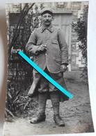 1916 Poilu 420 Eme RI Issu Du 85 Eme RI Bléssé En Argonne Soigné à Nice  Tranchée 14 18 1 Ww1 1 Carte Photo - War, Military