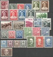 (E055) BELGIQUE - Année Complète 1953 N°908à937 * - Dewé, Roi Beaudouin, Croix-Rouge, Tourisme, Savants,... - Annate Complete