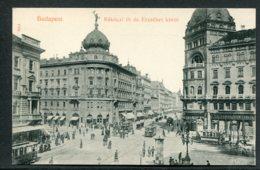 HONGRIE - BUDAPEST - Rakoczi Ut és Erzsébet Körut - Tramways - Attelages - Hongrie
