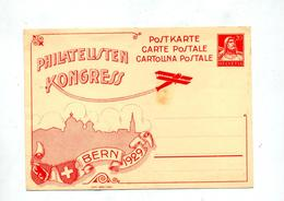 Carte Postale 20 Tell Congres 1929 - Interi Postali