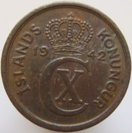 LaZooRo: Iceland 1 Eyrir 1942 XF / UNC - Islande