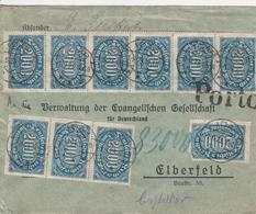 Allemagne Lettre Inflation Idar 1923 - Allemagne