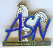 Pin's ASN - Association Sportive Nandéenne  - LE COQ Blanc - 623 - Vereinswesen