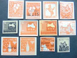 Magnifique Et Important Ensemble De Vignettes Expérimentales De Grève De Saumur - Strike Stamps