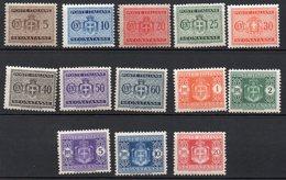 1934 - Regno Segnatasse Stemma Con Fasci N. 34 - 46 Serie Completa Nuovi MLH* - 1900-44 Victor Emmanuel III.