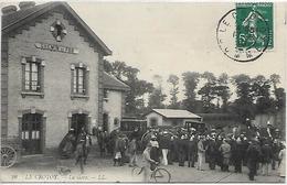 80, Somme, LE CROTOY, La Gare, Scan Recto Verso - Le Crotoy