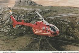Devon Air Ambulance - Hélicoptère - Haytor Rock - Dartmoor  - Ambulance De Secours - Helicopters