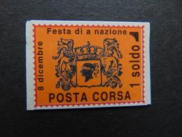 Curieuse Vignette De La Poste Corse émise Suite à Une Grève Dans Le Courrier Interne à L'île - Grève
