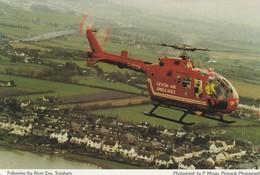 Devon Air Ambulance - Hélicoptère - Following The River Exe, Topsham  - Ambulance De Secours - Helicopters