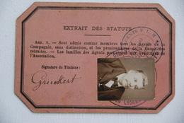 Carte D'identite Gent Plm Lyon Transport - Documenti Storici