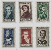 Célébrités Du 19eme  1951 - 6 Timbres - 891 à 896 - Neufs - Napoléon 1er, Surcouf, Gay-Lussac, Delacroix, Talleyrand.... - France
