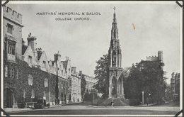 Martyrs' Memorial & Baliol College, Oxford, Oxfordshire, C.1940 - ETW Dennis Postcard - Oxford