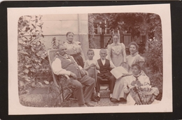 """SUISSE. BIENNE/ BIEL. Réunion De Famille Au """" Coin Baehni """", Vers 1898. Photo  Sépia Cartonnée 16.5 Cm X 10.5 Cm - Photographs"""