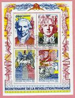 N°YT 2667 à 2670 Bicentenaire De La Révolution - Bloc-feuillet  N°12 Reconstitué - Usados