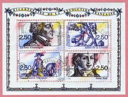 N°YT 2700 à 2703 Bicentenaire De La Révolution - Bloc-feuillet  N°13 Reconstitué - Usados