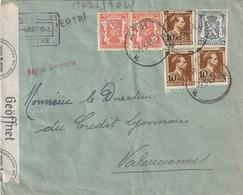 Belguique - Lettre Perforée Censurée Avec Cachet Region Limitrophe 5 3 1943 - Lettres