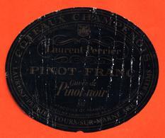 étiquette De Coteaux Champenois Pinot Franc Laurent Perrier à Tours Sur Marne - 75 Cl - Champagne