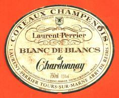 étiquette De Coteaux Champenois Blanc De Blancs De Chardonnay Laurent Perrier à Tours Sur Marne - 75 Cl - Champagne