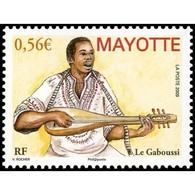 Timbre N° 231 Neuf ** - Instrument De Musique - Le Gaboussi - Mayote (1892-2011)