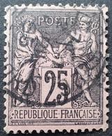 C539/91 - SAGE TYPE II N°97a Noir Sur Rose Foncé - CàD - 1876-1898 Sage (Type II)