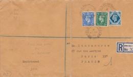 Env Recommandé T.P. Ob Field Post Office 14 Mars 55, Env Pour Paris IXème - 1952-.... (Elizabeth II)