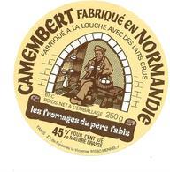 ETIQUETTE De FROMAGE..CAMEMBERT Fabriqué En NORMANDIE ( Orne 61-C)..Les Fromages Du Père Fabis - Cheese