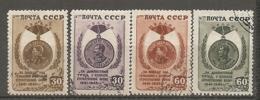 RUSSIE -  Yv N° 1044 à 1047  (o)  Victoire   Cote  1  Euro  BE - 1923-1991 URSS