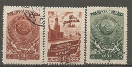 RUSSIE -  Yv N° 1037 à 1039   (o)  Elections   Cote 1,8  Euro  BE - 1923-1991 URSS