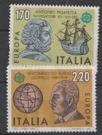 ITALIE / ITALY - JAAR 1980 - Nrs/ Y&T 1418 En 1419  Of MI 1686 En 1687 - ONGESTEMPELD - * - 1946-.. République