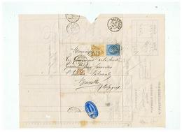 LETTRE J. LACHAUSSEE &Cie Seur De FRANCOIS DATS & Cie à ROUEN Pour BRUXELLES 1863 - Marcophilie (Lettres)