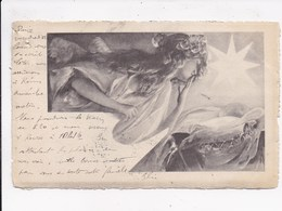 CP ILLUSTRATEUR Portrait Femme Scenes Hivernales  Lot De 2 Cartes - 1900-1949