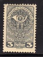AUSTRIA ÖSTERREICH 1919 1920 POST HORN 3h MLH - Nuovi