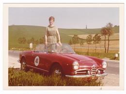 "AUTOMOBILE - ALFA ROMEO "" GIULIETTA CABIOLET SPIDER ""  - CAR -  DONNA - FOTO ORIGINALE - Automobili"