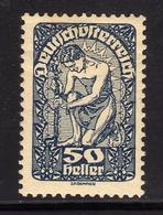 AUSTRIA ÖSTERREICH 1919 1920 ALLEGORY OF NEW REPUBLIC 50h MH - Nuovi