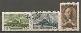 RUSSIE -  Yv N° 1081 à 1083   (o)  Lénine   Cote 3  Euro  BE   2 Scans - 1923-1991 UdSSR