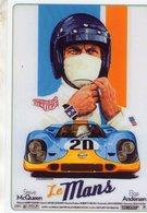 'Le Mans' Avec Steve McQueen  -  Publicité  - Reproduction Affiche De Film -  CPM - Le Mans
