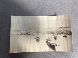 Grece: Crete: La Canee Port De Chania Et Village A Caudie - 3 Petites Photos Albumens Vers 1880 Hellas - Foto
