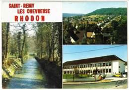 78 - M59293CPM - ST SAINT REMY LES CHEVREUSE - RHODON - Yvette, Panorama, Groupe Scolaire - Très Bon état - YVELINES - St.-Rémy-lès-Chevreuse