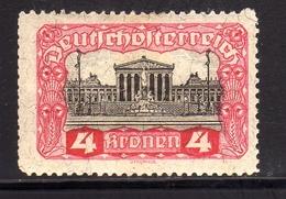 AUSTRIA ÖSTERREICH 1919 1920 PARLIAMENT BUILDING PARLAMENTO 4K MLH - Nuovi